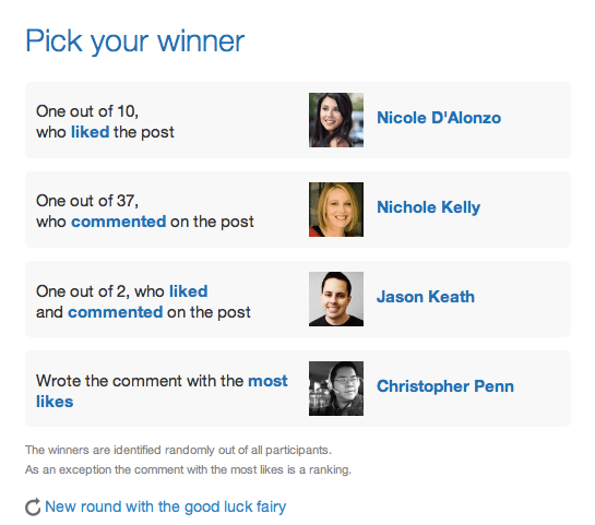3 herramientas para elegir ganadores de sorteos en Facebook