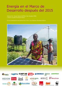 Energía en el Marco de Desarrollo después del 2015
