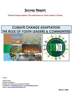 Survey Report - Impact of Climate Change on Youth Leaders in Ghana