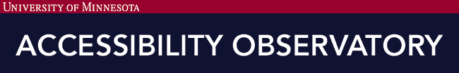 Accessibility Observatory banner