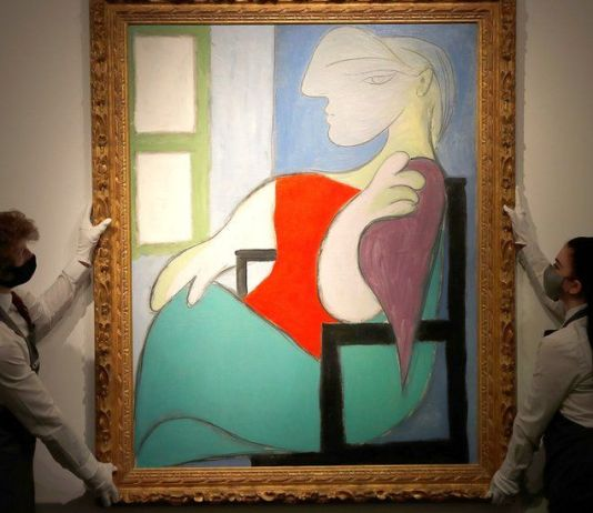 "The painting ""Woman Sitting Near a Window (Marie-Therese)"" by Pablo Picasso sold for $103.4 million at Christie's in New York on Thursday."
