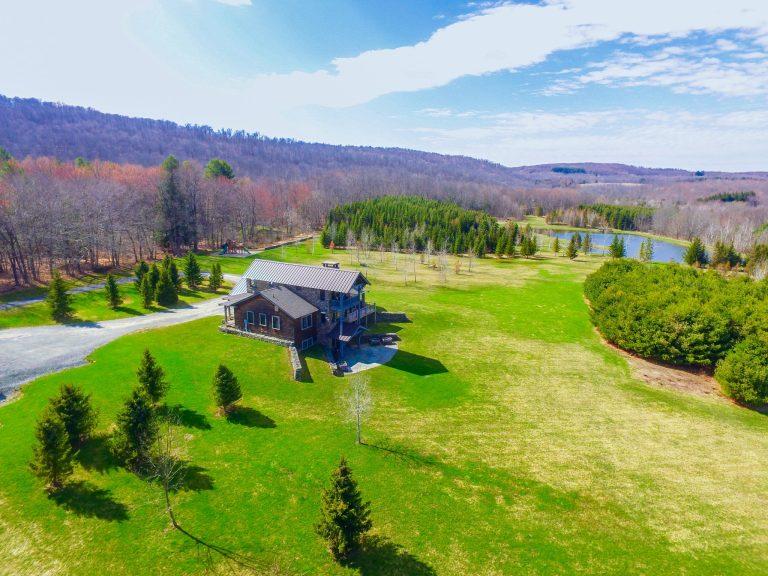 Drone photo of mountain estate