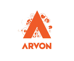 image shows the Arvon logo in orange