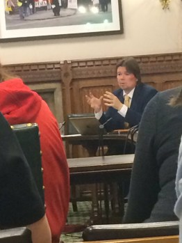 Kris talking at the APPG on Blood Cancer