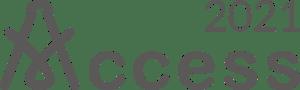 Access 2021 logo in warm dark grey