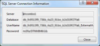 sql server connection information