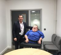 Recently Principal Consultant Richard Jones with Mark Thomas Campus Director/Director of Facility at the Aberdare Campus of Coleg y Cymoedd