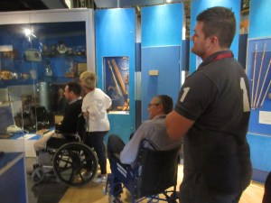Delegates looking at access issues that challenge people who use wheelchairs