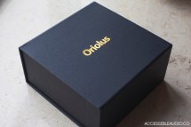 An elegant black and gold foil embossed box.