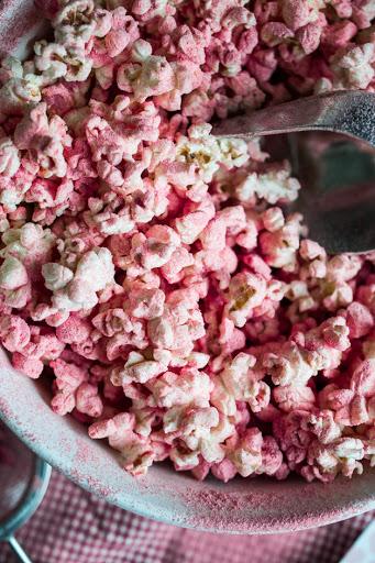 strawberry dust popcorn