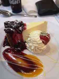 Picture of cheesecake with cream