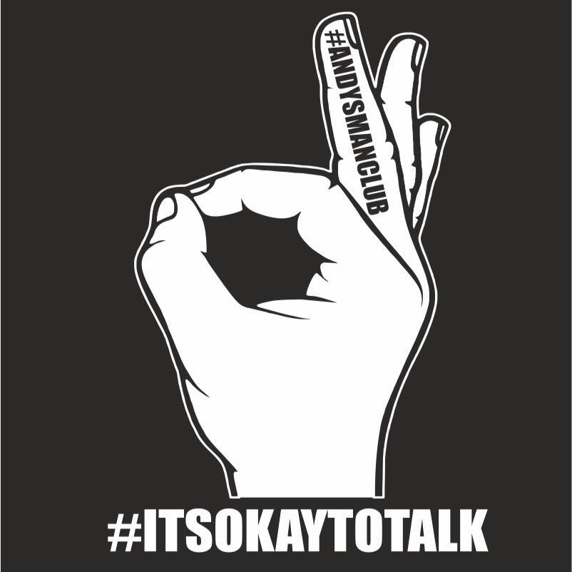 #ITOKTOTALK hand in an o on a black background