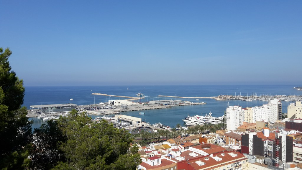 Denia harbor Spain