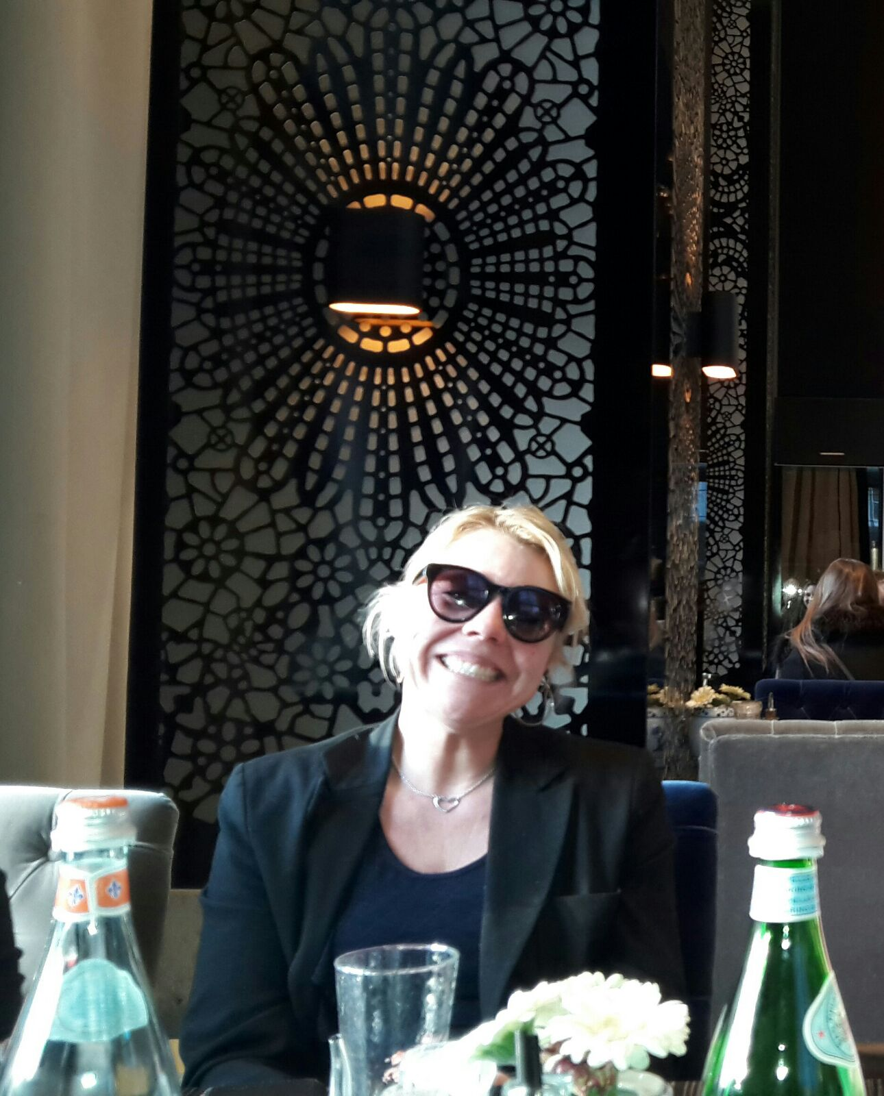 danielle in restaurant