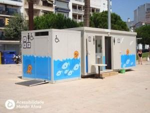 beach accessible toilet lloret de mar spain