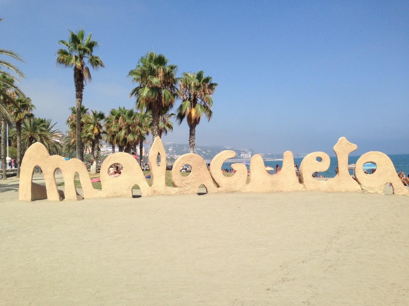 Malagueta beach in Malaga Spain