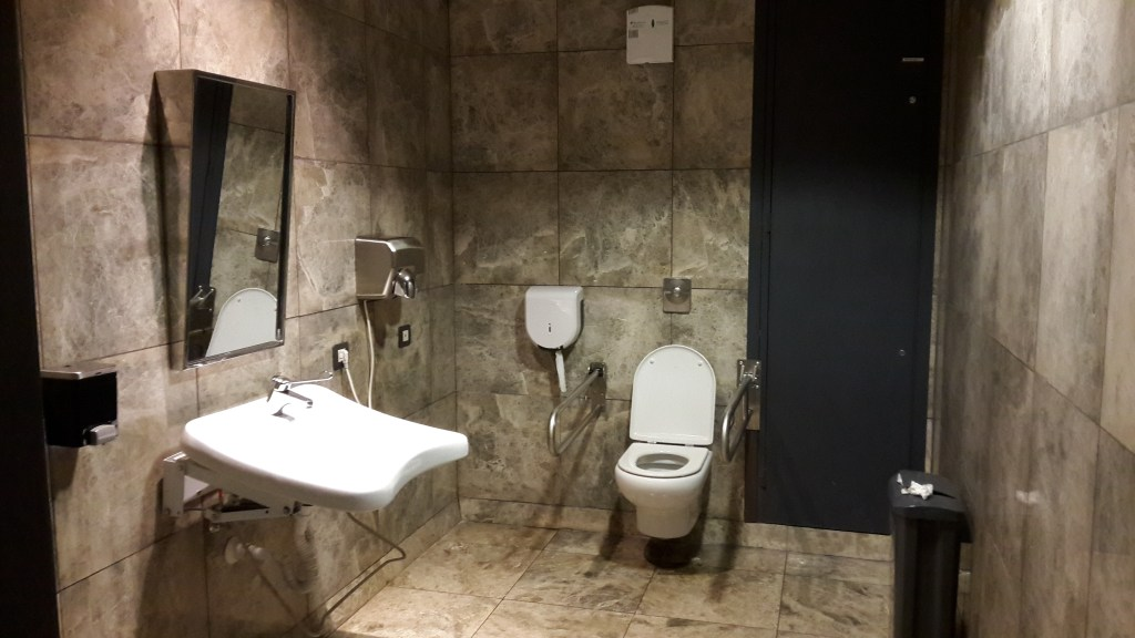 accessible toilet airport Alicante Spain