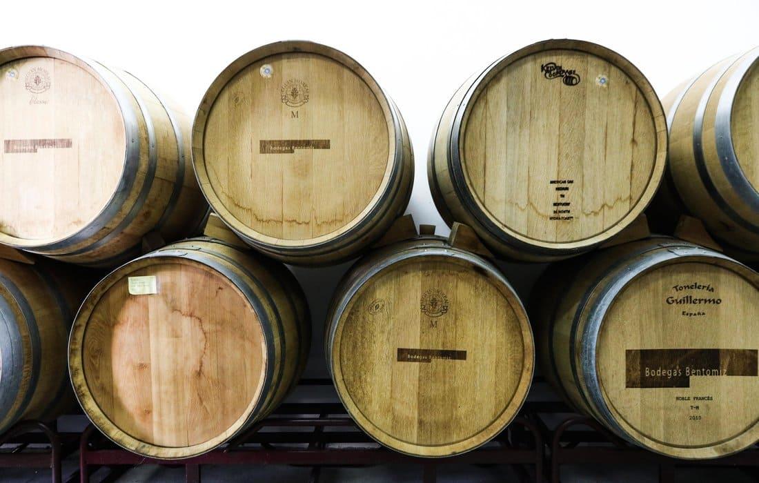 Wine barrels Wine Tasting Tour Malaga Spain
