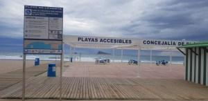 Accessible beach Spain
