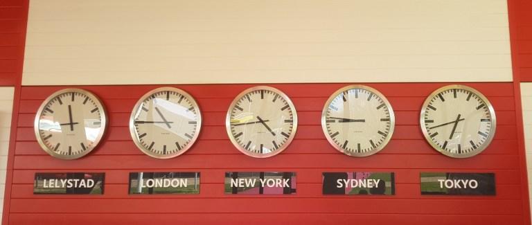 clocks around the world