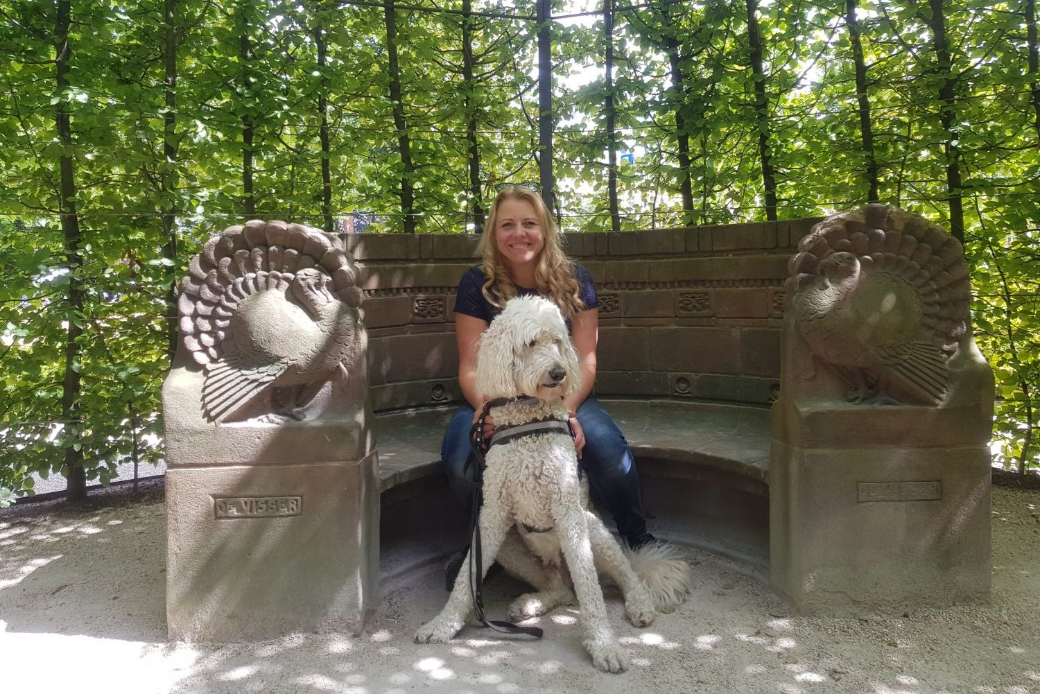 Danielle and assistance dog Noah at Rijksmuseum tour for the blind