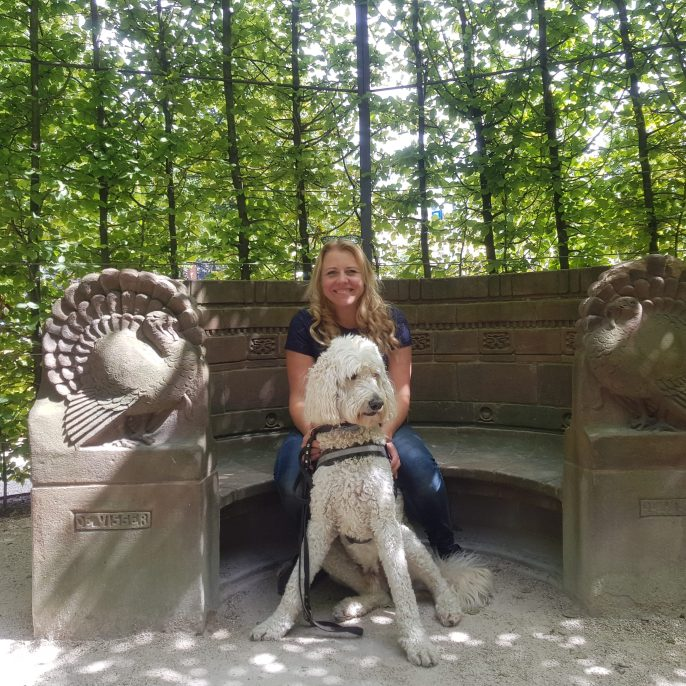 assistance dog Noah and Danielle Amsterdam