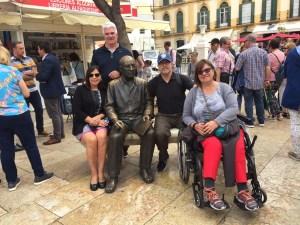 picasso statue Markle Malaga