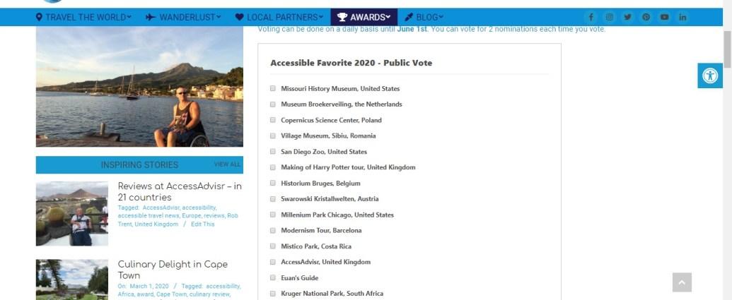 ATO awards screenshot