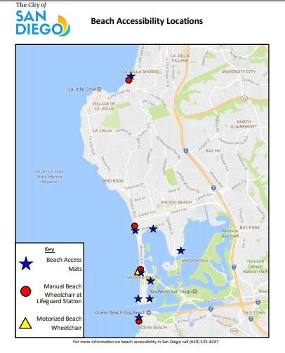 beach access locations san diego