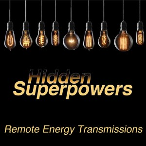 This is a graphic of the logo Hidden Superpowers with a product announcement of a remote transmission program.