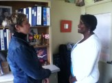 Ms. Catlet, counselor and Ms. Ross, head of the College and career centerhe