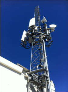 Access Sacramento would use the top of an existing mast in downtown Sacramento for its antenna.