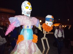 A typical scene at one of Sacramento's Day of the Dead festivals.