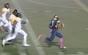 Inderkum running back Austin Thurman dashed for three TD's, leading the chase for 77, 14 and 1 yard scores.