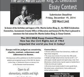 MLK  Essay Contest Taking Entries Now