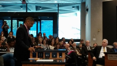 Mayor Kevin Johnson gives his testimony