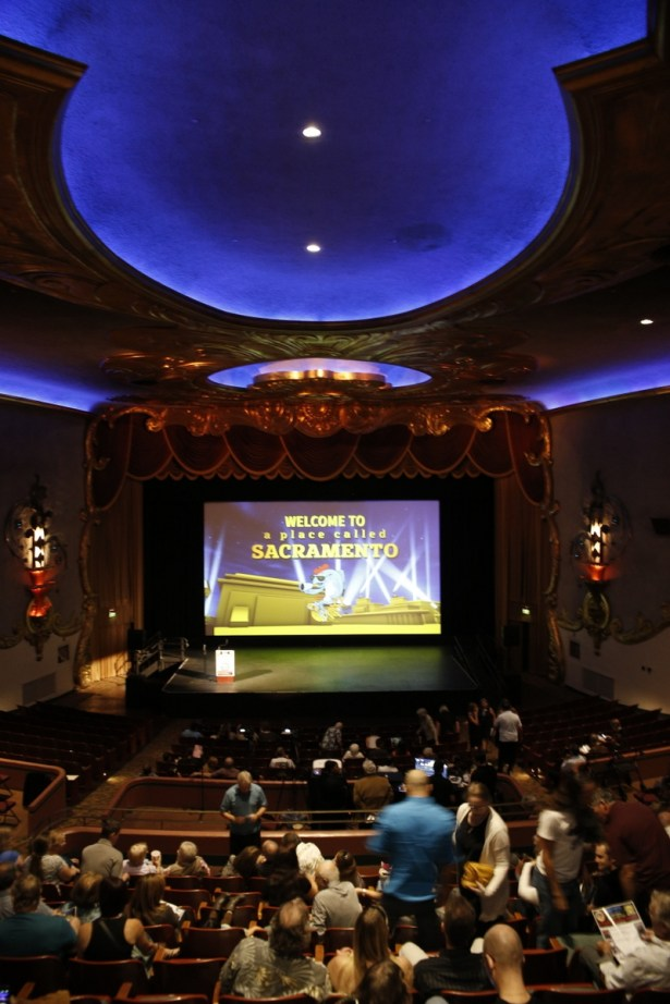"""The Creast Theatre during the """"A Place Called Sacramento Film Festival. [Phil Kampel Photography]"""