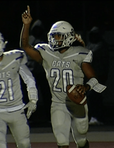 Franklin's Kaderro Tamondong celebrates after a 6-yard touchdown run with 2:11 left in the 2nd quarter.
