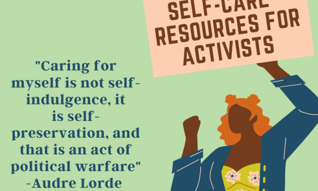 Self-Care  Resources For Activists