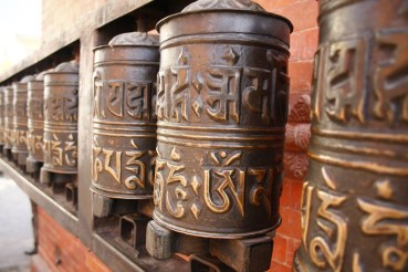 Stationary prayer Wheel in Swambunath Stupa