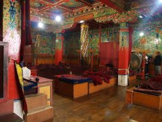 Inside Tengboche Monastery