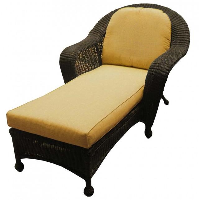 Rattan Chaise Lounge Cushion
