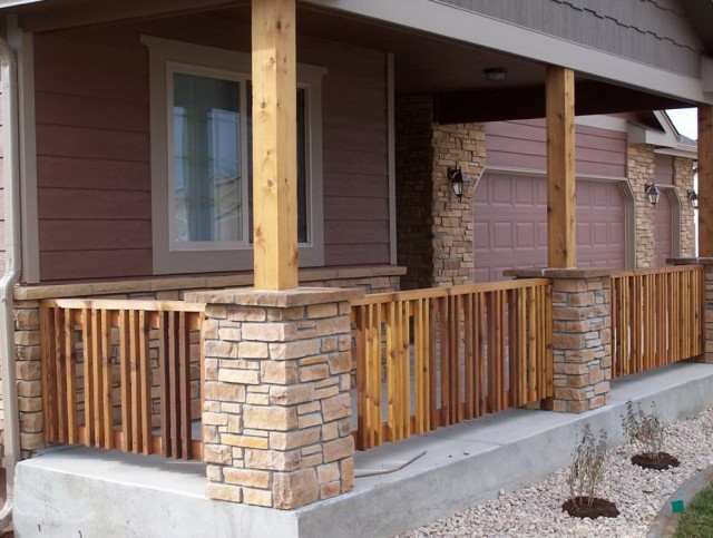 Front Porch Columns With Stone