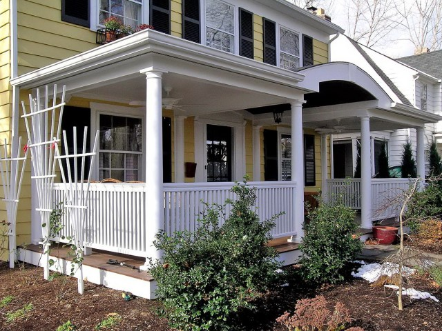 Adding A Front Porch Before And After