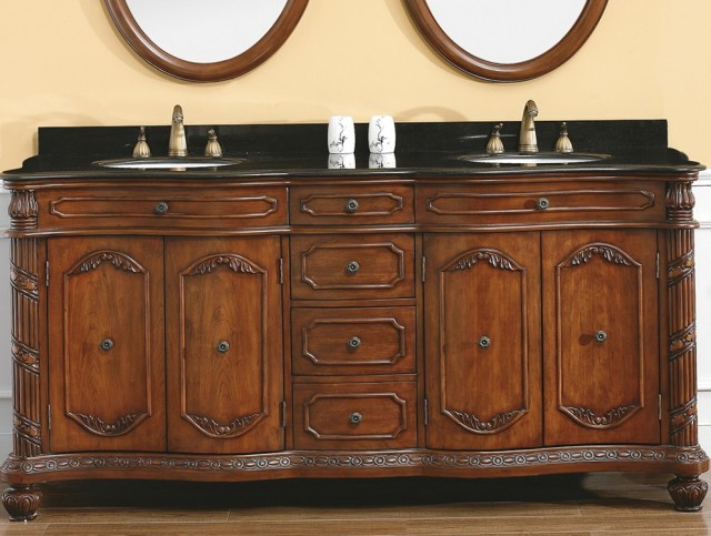 72 Inch Double Sink Vanity Granite Top