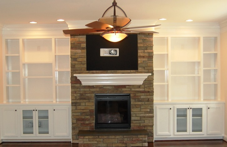 Permalink to Built In Fireplace Bookshelves