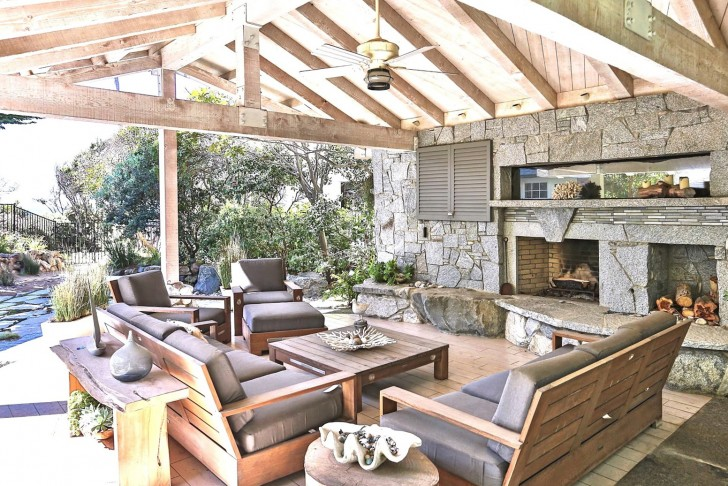 Permalink to Covered Porch With Outdoor Fireplace