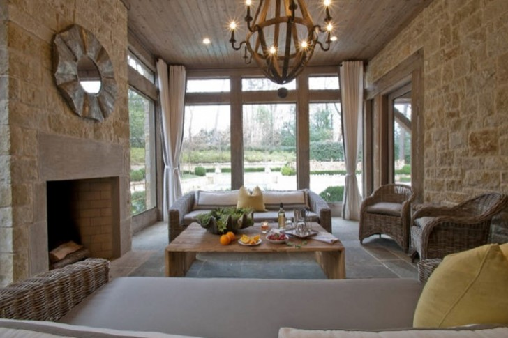 Permalink to Small Screened In Porch With Fireplace