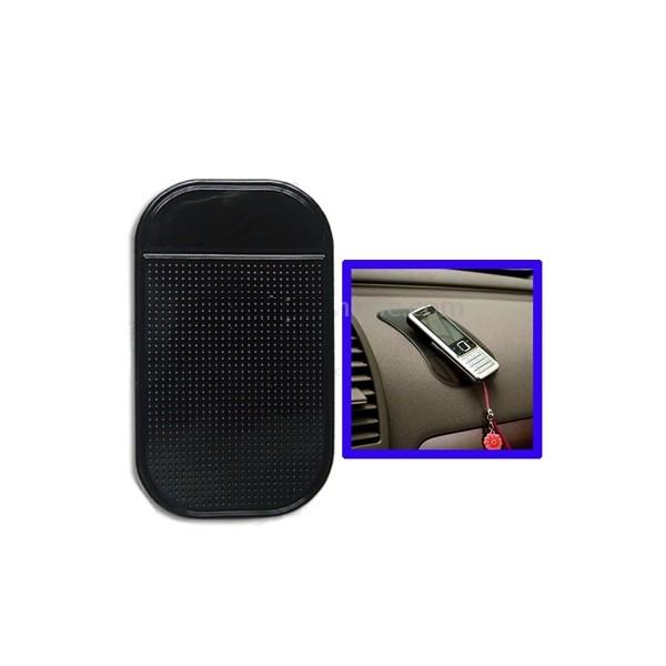 accessoire auto tapis auto adhesif antiderapant iphone smartphone tableau de bord noir