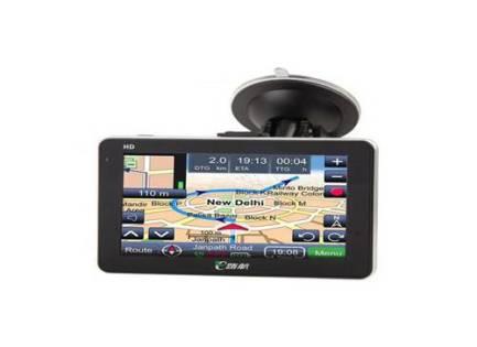 GPS multimédia écran 5 pouces à fixer sur le pare-brise de la voiture ou ailleurs.